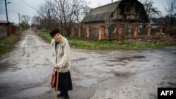 Поселок Жабунки в районе аэропорта Донецка. Иллюстративное фото.