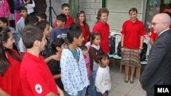 Од неодамнешната донација од американската амбасада за бегалците од Косово