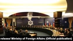 Foto nga mbledhja e përbashkët e Qeverisë së Shqipërisë dhe Kosovës. Foto nga arkivi.