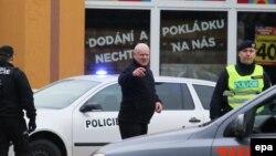 Pamje e pjesëtarëve të forcave policore çeke