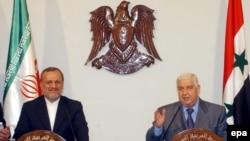 وزرای خارجه ایران وسوریه