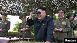 Udhëheqësi verikorean, Kim Jong Un.