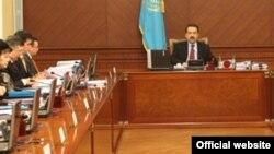 Заседание правительства Казахстана.