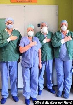 Колеги Ярослави Вишневської, медики з Берґамо
