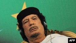 Libyan leader Muammar Qaddafi (file photo)