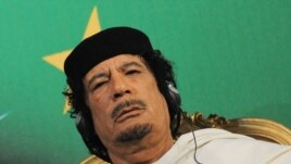 Libyan leader Muammar Qaddafi (file photo)