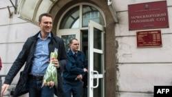 Навальный соттан шықты. Мәскеу, 7 наурыз 2014 жыл.