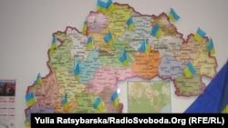 Harta punctelor de control civile împotriva separatiștilor în regiunea Dnipropetrovsk.