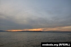 Закат на берегу Японского моря