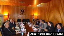إجتماع سابق يجمع حزبي السلطة في إقليم كردستان العراق مع أحزاب المعارضة