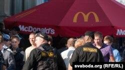 Милиция в Минске в ожидании акции молчаливой солидарности