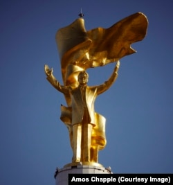 A 12-meter, gold-plated statue of Niyazov, who ruled the former Soviet country from 1990 until his death at the end of 2006.