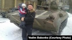 Вадим Бабенко в Дебальцеве до того, как украинские войска оставили город