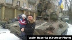 Вадим Бабенко у Дебальцеві до того, як українські війська залишили місто