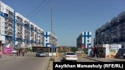 Здания в районе «Асыл Арман». Алматинская область. 26 марта 2020 года.