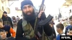 An Uzbek militant fighting in Syria.