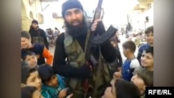 Uzbek IS militant Abu Usman in Syria.