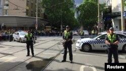 Полицейское оцепление на месте теракта в Мельбурне, 9 ноября 2018 года
