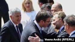 Vrijeme većeg povjerenja: Čelnici BiH Dragan Čović, Mladen Ivanić i Bakir Izetbegović u zvaničnoj posjeti premijeru Srbije Aleksandru Vučiću