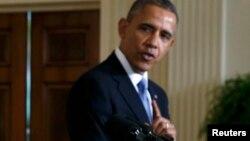Президент США Барак Обама. Вашингтон, 11 февраля 2014 года.