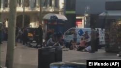 La locul atacului precedent de joi de la Barcelona