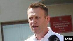 Российский оппозиционный активист Алексей Навальный.