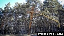 Демонтаж хрестів у Куропатах, 4 квітня 2019 року