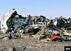 Місце падіння літака. 1 листопада 2015 року