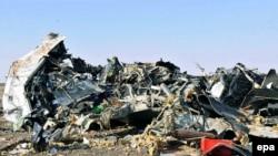 Обломки Airbus A321. 31 октября 2015 года.