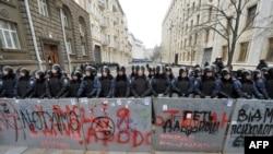 Protestë antiqeveritare në Kiev