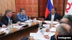 Глава Ингушетии Юнус-Бек Евкуров на совещании по обеспечению правопорядка в республике, 24 августа 2017 года