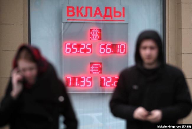 Обменные курсы рубля в Москве. 27 февраля 2020 года