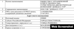 Установчі документи фірми-перевізника «Донбас-Тур»