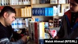 محل لبيع السكائر في بغداد