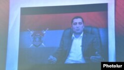 Armenia - A screenshot of a video address by Artur Vartanian, the leader of a group accused of plotting a coup, released by the National Security Service, 30Mar2016.