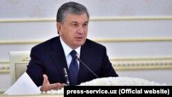 Шавкат Мирзиёев, раиси ҷумҳури Узбекистон. Ҷаласаи Тошканд, 26-уми апрели 2018