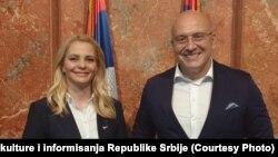 Ministarka Trivić i ministar Vukosavljević, Beograd