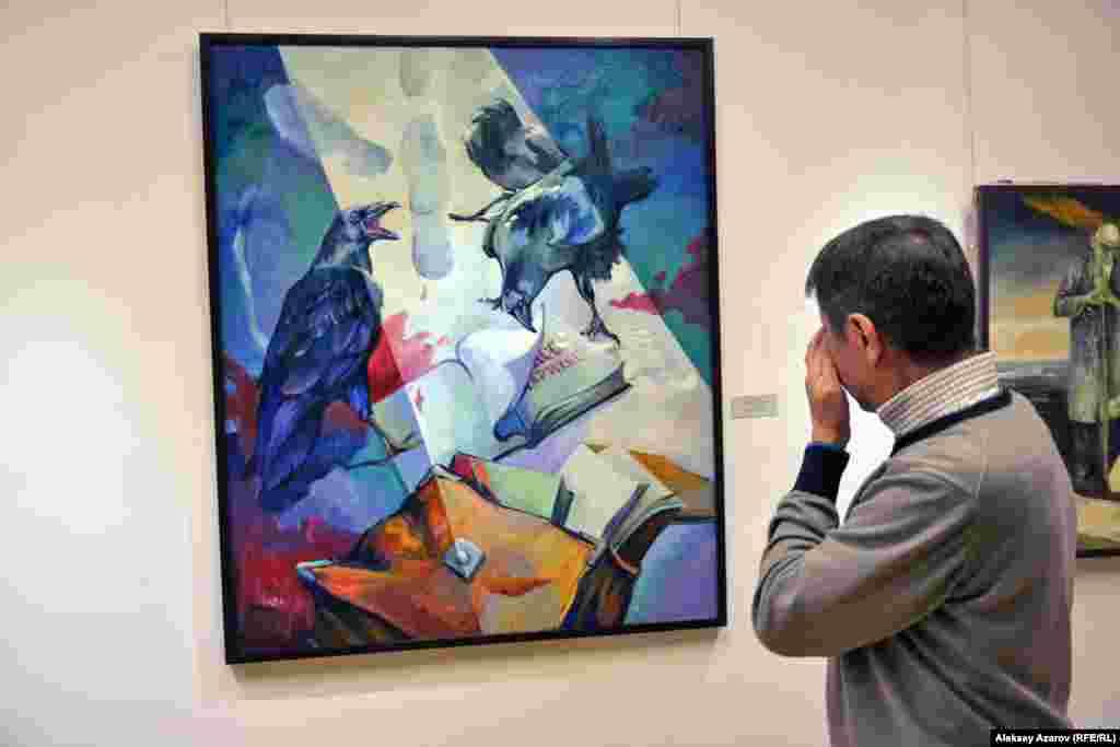 Теме Декабрьских событий 1986 года в Алматы посвящено несколько работ. Одна из наиболее выразительных – «Красный снег декабря». Ее автор – Рахмангазы Макажанов, работающий в «суровом стиле».
