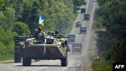 Украина әскері. Донецк, 3 шілде 2014 жыл. (Көрнекі сурет)
