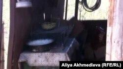 Роман Панкратов осы үйде ата-анасымен бірге тұрады. Алматы облысы, Қарасай ауданы, мамыр 2012 жыл.