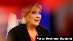 Марин Ле Пен после поражения на президентских выборах во Франции.