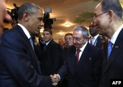 "The handshake was described by the U.S. State Department as ""an informal interaction"" between the two leaders."