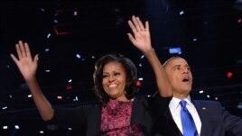 Preșidentele Barack Obama și Prima Doamnă Michelle, Chicago 7 noiembrie 2012