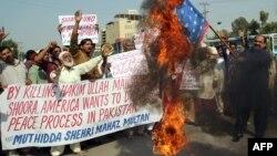 Антиамериканская демонстрация в Пакистане (архивное фото 2013 года).