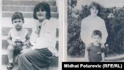 Amila i Asmir Salihagić - slika iz djetinjstva