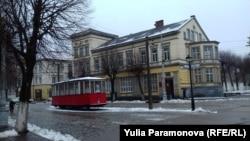 Макет старинного немецкого трамвая в Советске