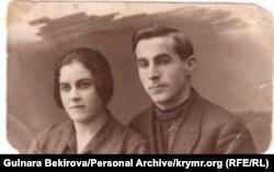 Февзи Мусаниф с женой Эдие