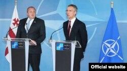 Վրաստանի նախագահ Գեորգի Մարգվելաշվիլին և ՆԱՏՕ-ի գլխավոր քարտուղար Յենս Ստոլտենբերգը