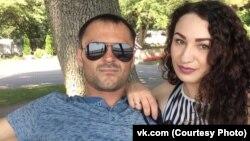Кристина с мужем. Фото из социальной сети Кристины
