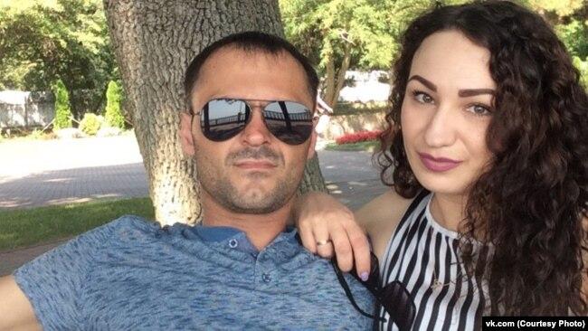 Кристина с мужем. Фото из социальной сети Кристины.